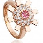 Stenmark Sun Ray ring in 18 karat pink gold and pink sapphire