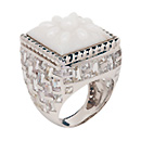 white opal basket-weave ring