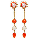 Colourburst Fire Opal Earrings by Stenmark
