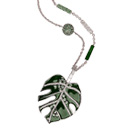 necklace - monstero deliciosa leaf