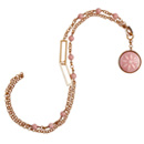 pink opal and enamel chain