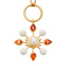 Pearl and Orange Sapphires Colourburst Pendant by Stenmark
