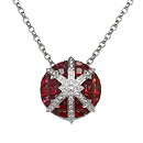 Stenmark: Snowflake Pendant - white gold, red sapphires and diamonds